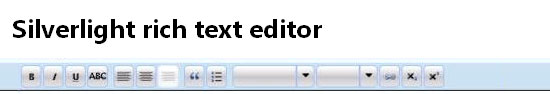 Silverlight Rich Text Editor